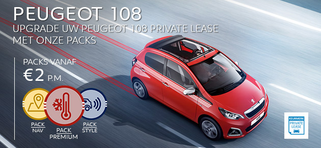 Peugeot 108 Private Lease upgrade